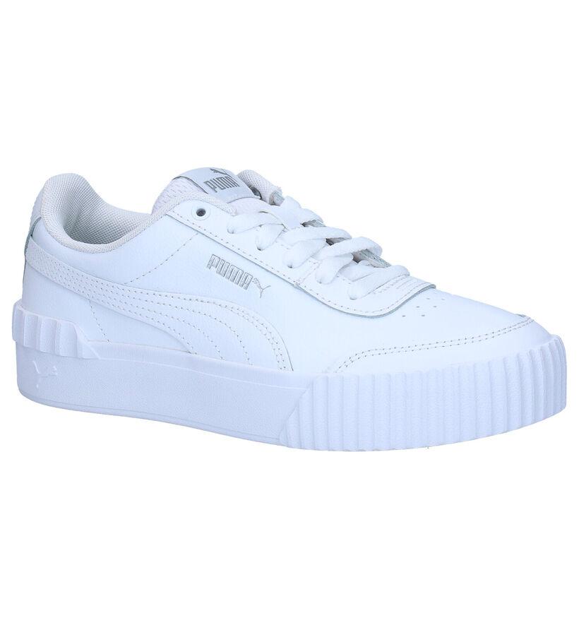 Puma Carina Lift Witte Sneakers in kunstleer (276776)
