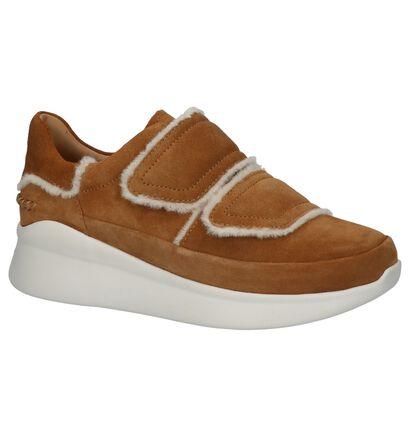 Zwarte Sneakers met Velcro UGG Ashby in daim (223598)
