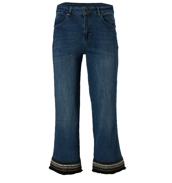 Maison Espin Blauwe Cropped Jeans