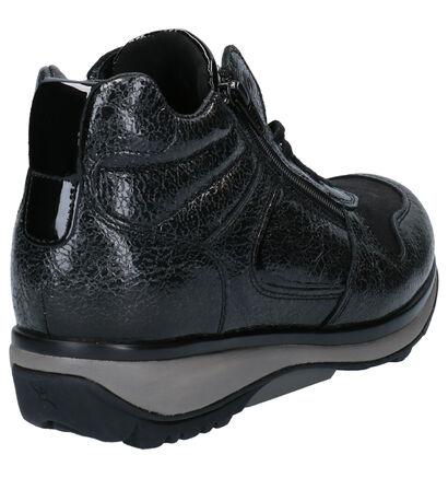 Xsensible Stretchwalker Filly Zwarte Hoge Schoenen in leer (259687)