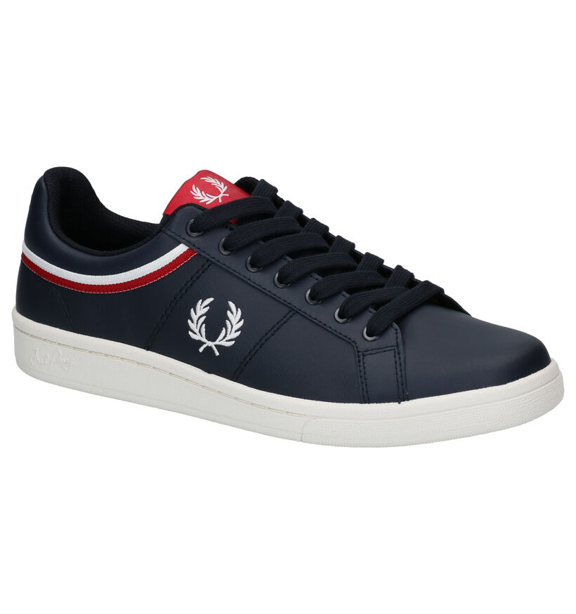 Fred Perry Baskets en Bleu en cuir (275062)