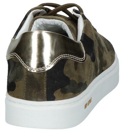 Hip Blauwe Lage Geklede Sneakers, Groen, pdp