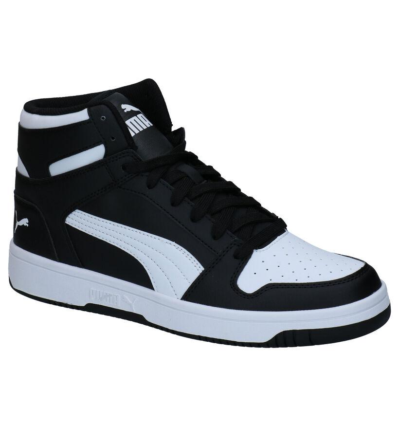 Puma Rebound LayUp SL Zwarte Sneakers in kunstleer (276738)