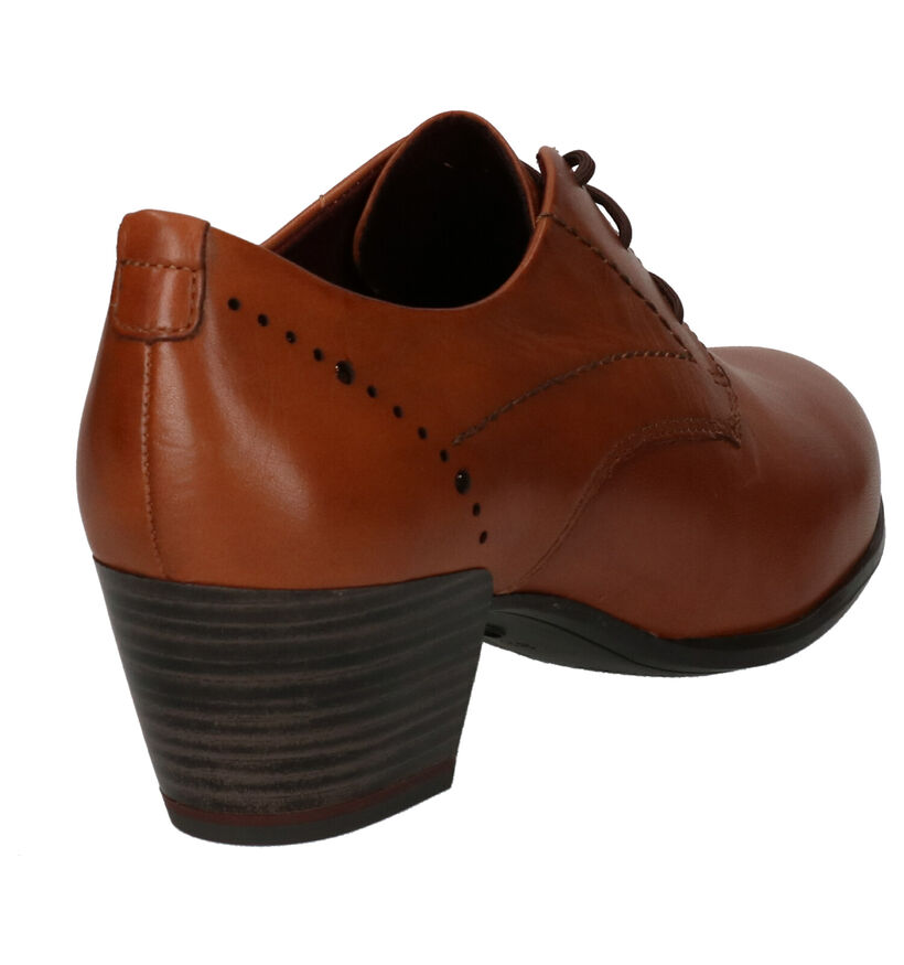 Tamaris ANTIshokk Cognac Enkelpumps in leer (253070)