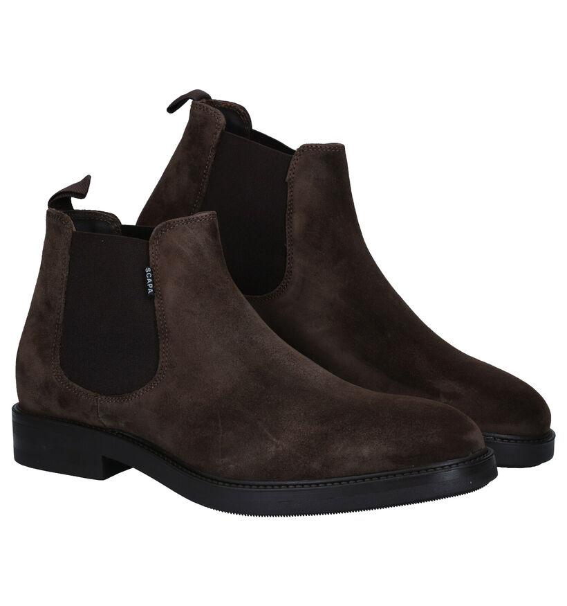 Scapa Kaki Chelsea Boots in nubuck (281338)