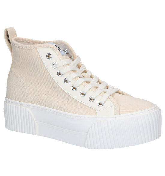 No Name Iron Mid Beige Sneakers