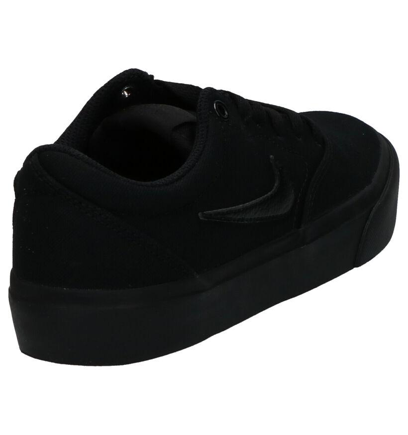 Nike SB Charge Canvas Baskets en Noir en textile (274799)