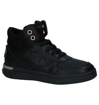 Zwarte Hoge Geklede Sneakers Geox in leer (223154)