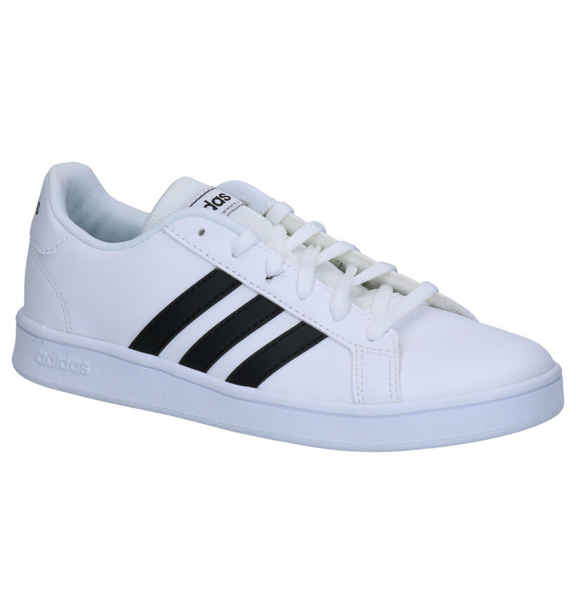 adidas Grand Court K Baskets en Noir en simili cuir (273463)