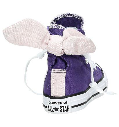Paarse Converse Chuck Taylor AS Bow Back Hi Sneakers met Strik, Paars, pdp