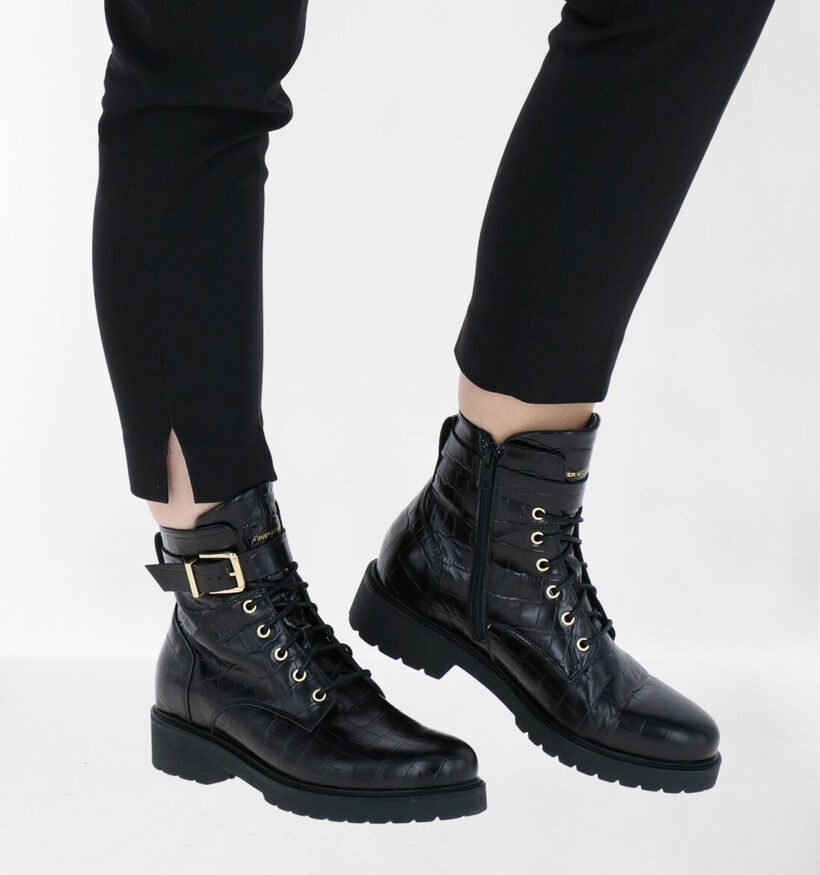 River Woods Echo Bottines en Noir en cuir (281919)