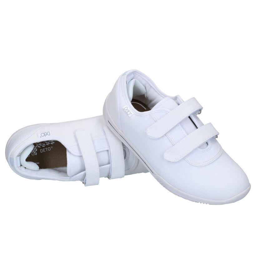 Deto Witte Sportschoenen in stof (293538)