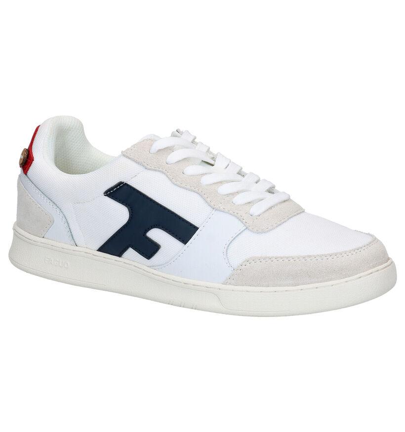 Faguo Hazel Witte Sneakers in stof (281083)