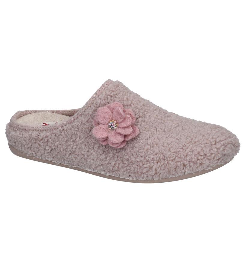 CM Comfort Roze Pantoffels in stof (281986)