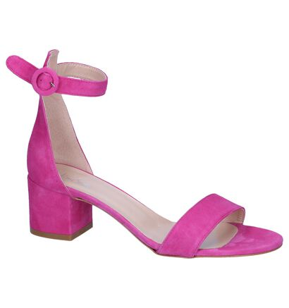 Blauwe Sandalen Via Limone, Roze, pdp