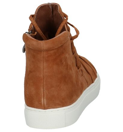 Youh! Boots met Rits/Veter Cognac in daim (201212)