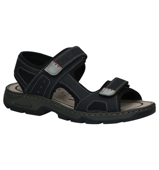 Rieker Zwarte Sandalen