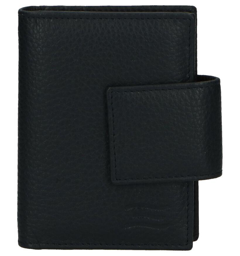 Crinkles Porte-cartes en Noir en cuir (263711)