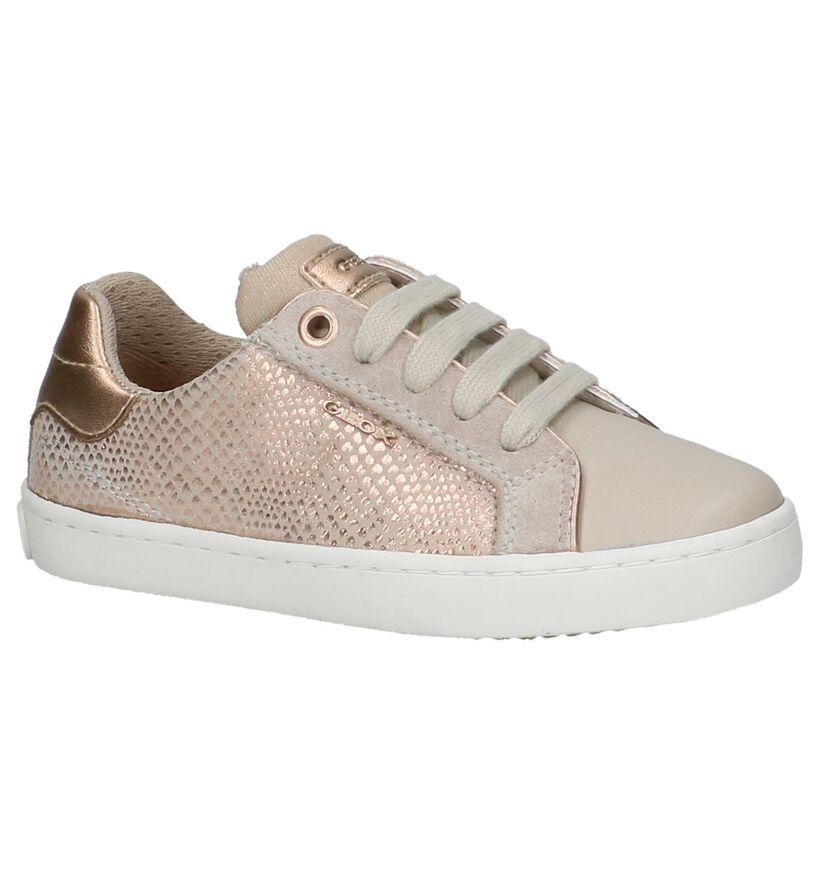 Beige Lage Geklede Sneakers Geox in leer (210497)