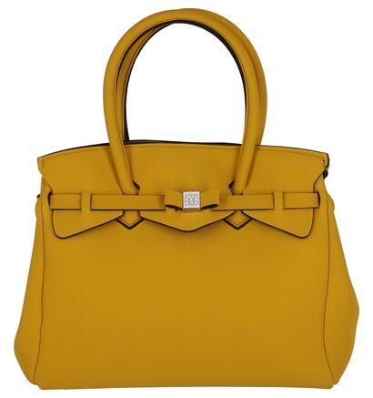 Zwarte Handtas Save My Bag, Geel, pdp