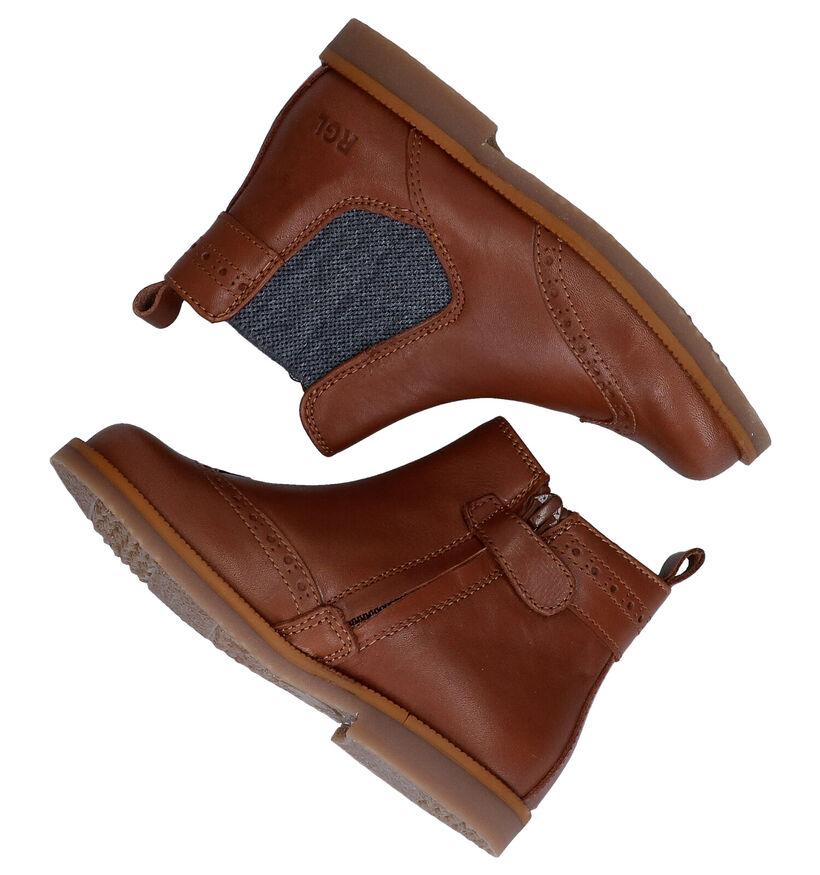 Romagnoli Chelsea Boots en Cognac en cuir (281526)