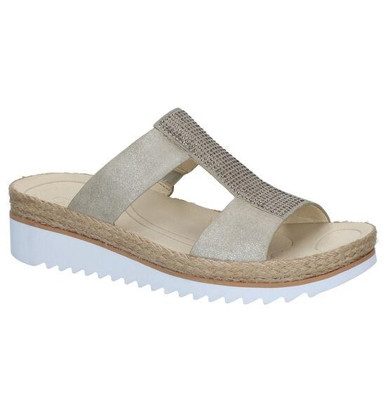 Gabor Best Fitting Nu-pieds en Beige