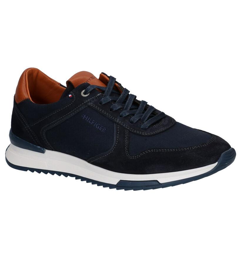 Tommy Hilfiger Runner Craft Mix Chaussures à lacets en Bleu en textile (276280)