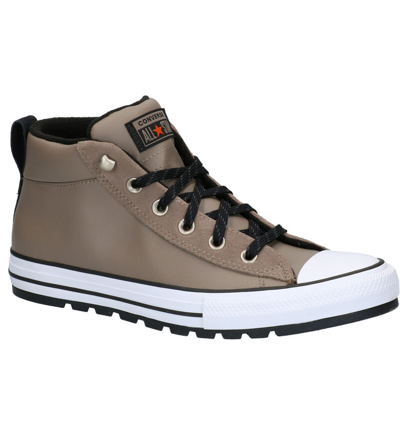 Converse Chuck Taylor AS Street Taupe Sneakers in leer (263447)