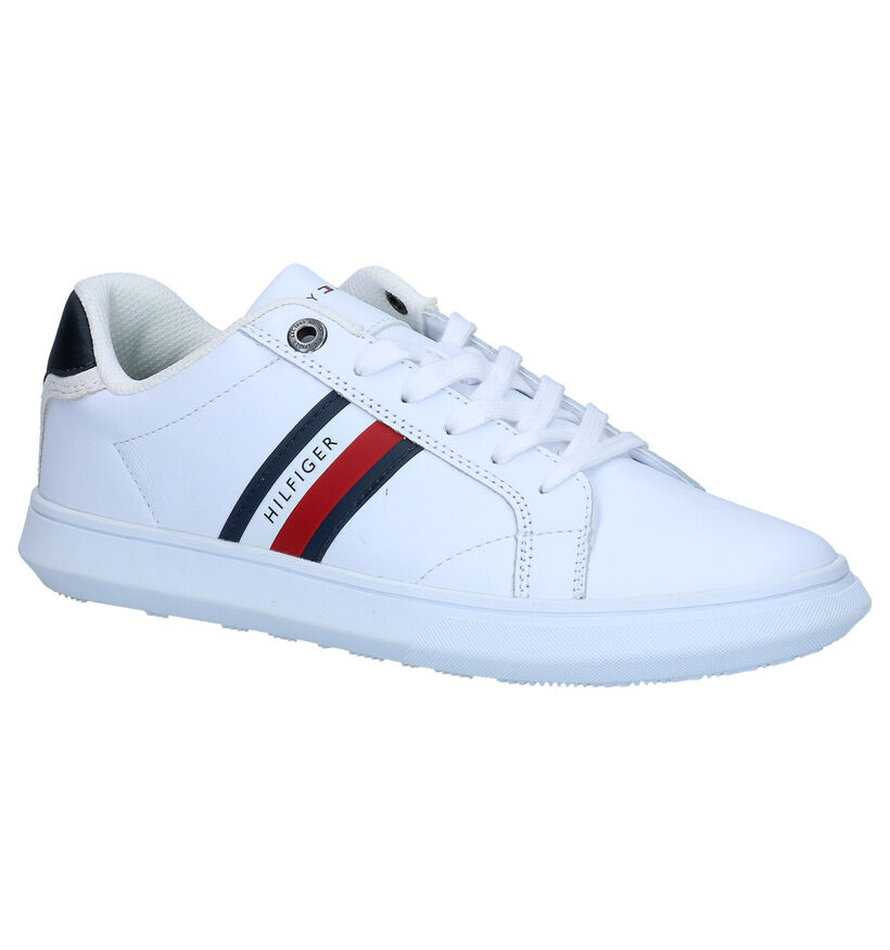 Tommy Hilfiger Essential Leather Cupsole Witte Sneakers in leer (279958)