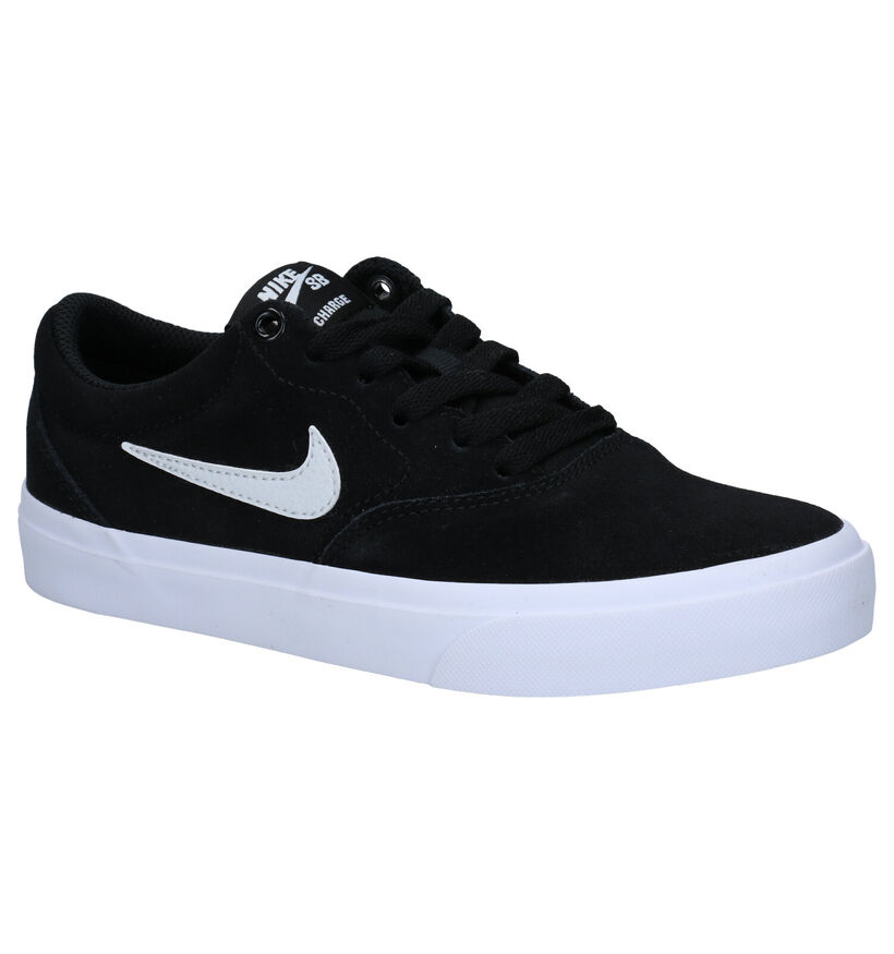 Nike SB Charge Baskets en Noir en nubuck (274612)