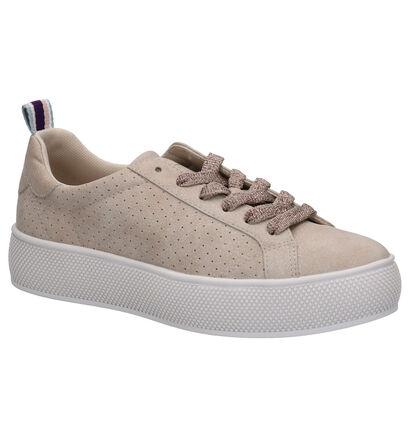 Esprit Chaussures à lacets en Beige foncé en simili cuir (276791)