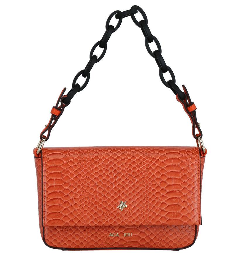 Aca Jou Catalpa Oranje Crossbody Tas in kunstleer (272916)