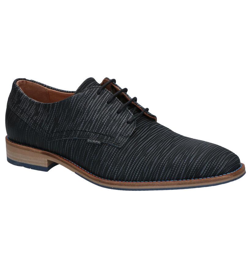 Scapa Chaussures habillées en Bleu foncé en cuir (270337)