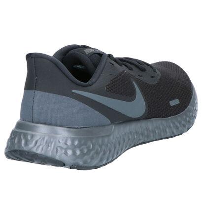 Nike Revolution 5 Zwarte Sportschoenen in stof (261879)