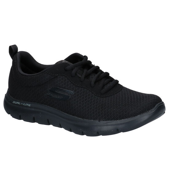 Skechers Memory Foam Baskets basses en Noir
