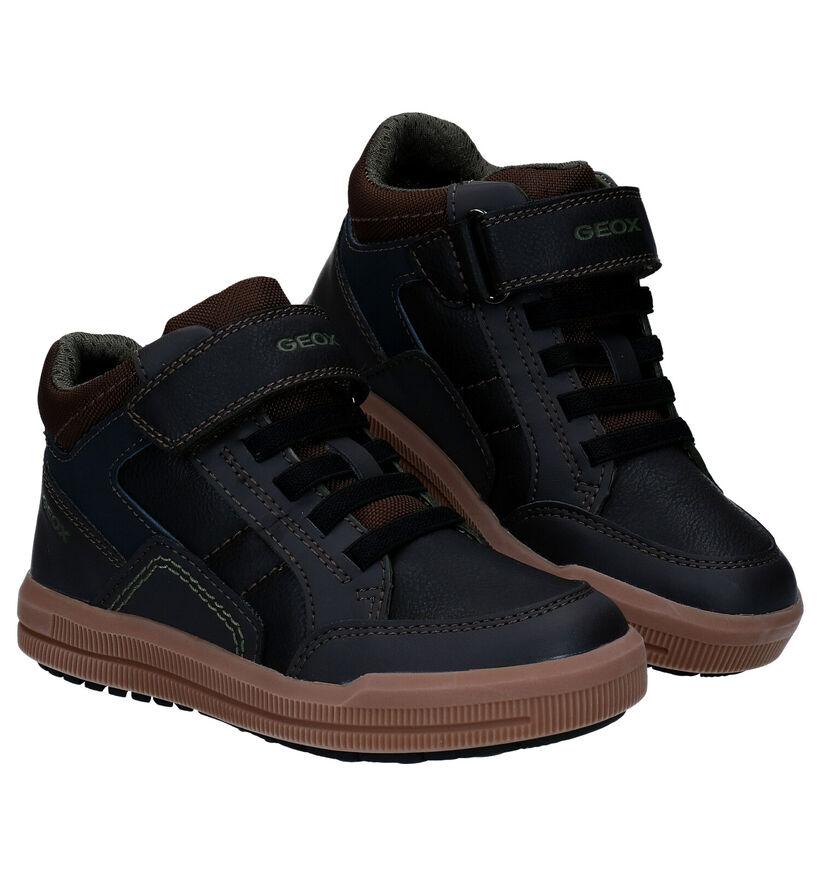 Geox Arzach Bottines à Velcro en Brun en simili cuir (277241)