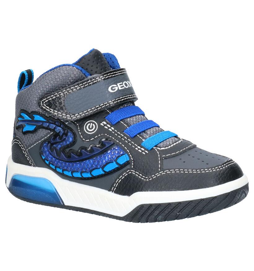 Geox Inek Blauwe Sneakers in kunstleer (254511)