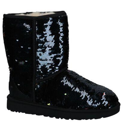 Zwarte UGG Classic Korte Laarzen met Pailletten in stof (223472)
