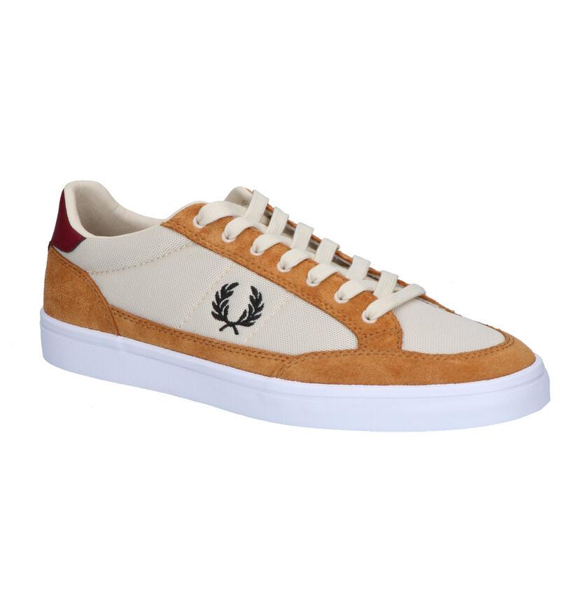 Fred Perry Cognac Sneakers in daim (251601)