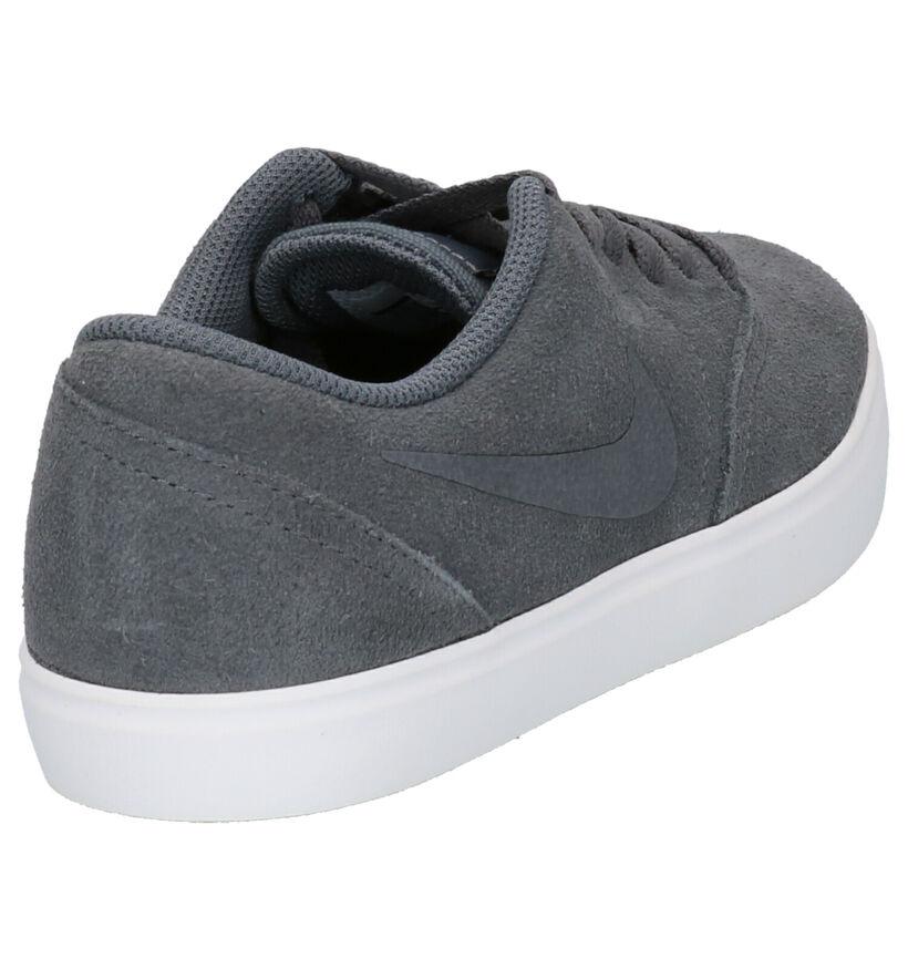 Nike SB Check Baskets en Noir en daim (254083)