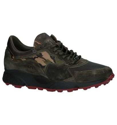 Laag Geklede Sneakers Cetti Kaki in leer (229803)