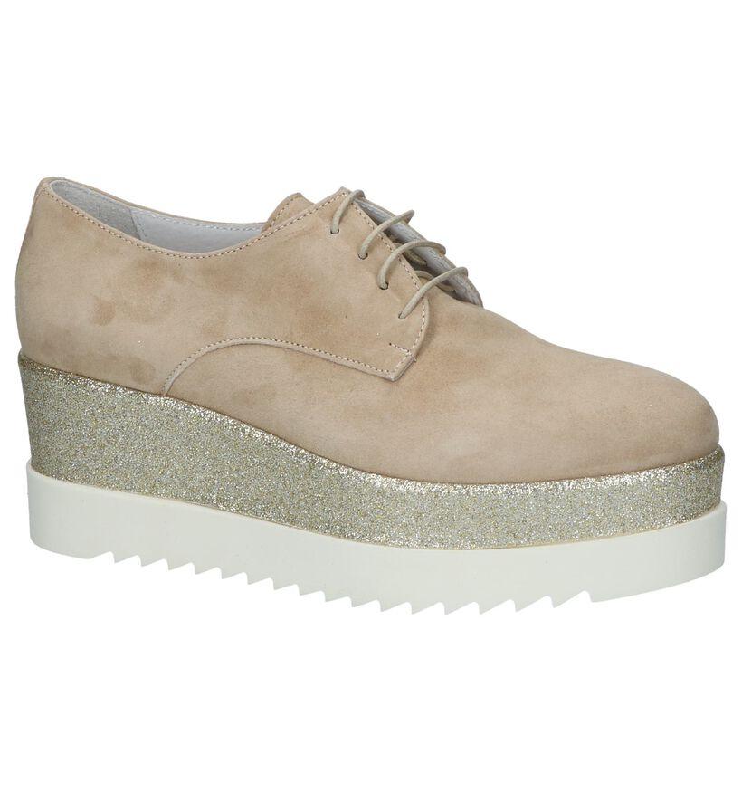 Via Limone Chaussures à lacets en Beige en daim (216150)