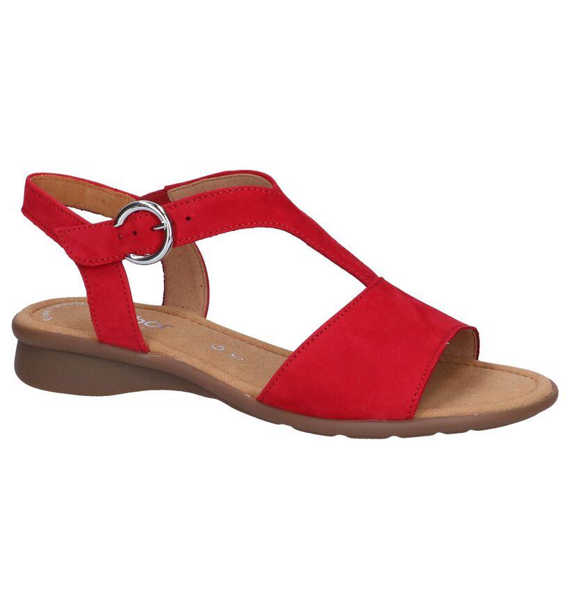 Gabor Comfort Sandales plates en Rouge en daim (245469)