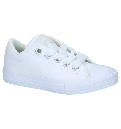 Witte Lage Sportieve Sneakers Converse All Star Chuck Taylor Street, Wit, pdp