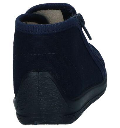 Donkerblauwe Pantoffels Bellamy Omiaou in stof (248489)