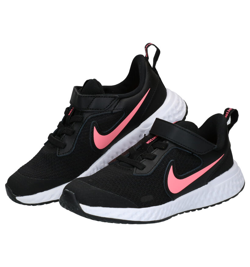 Nike Revolution Baskets en Noir en textile (274605)