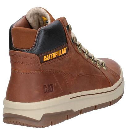 Caterpillar Irondale Chaussures hautes en Brun en cuir (256186)