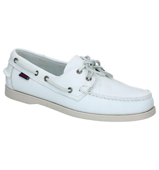 Sebago DOCKSIDE Witte Bootschoenen