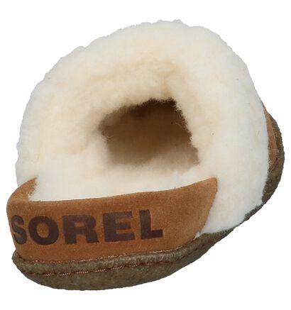 Sorel Pantoufles ouvertes en Naturel en daim (231094)