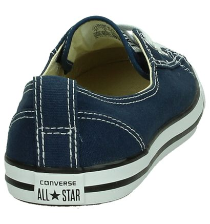 Converse CT All Star Ballet Witte Slip-on Sneakers, Blauw, pdp